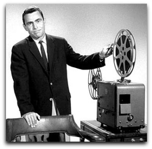 Rod Serling with Movie Projector